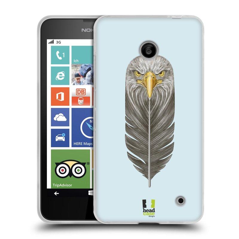 Silikonové pouzdro na mobil Nokia Lumia 630 HEAD CASE PÍRKO OREL (Silikonový kryt či obal na mobilní telefon Nokia Lumia 630 a Nokia Lumia 630 Dual SIM)