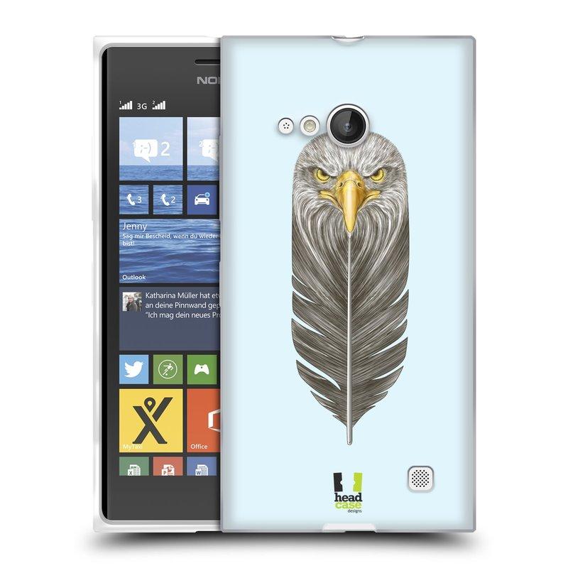 Silikonové pouzdro na mobil Nokia Lumia 730 Dual SIM HEAD CASE PÍRKO OREL (Silikonový kryt či obal na mobilní telefon Nokia Lumia 730 Dual SIM)
