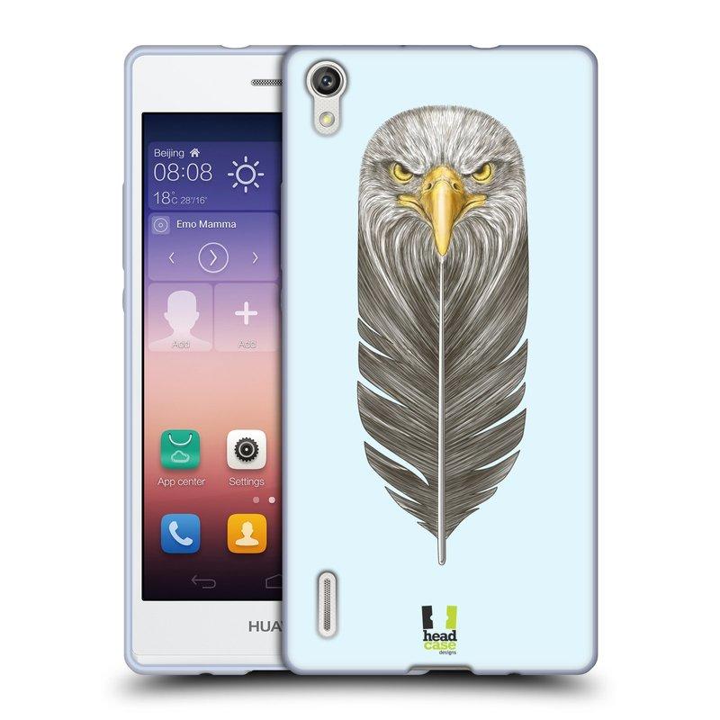 Silikonové pouzdro na mobil Huawei P7 HEAD CASE PÍRKO OREL (Silikonový kryt či obal na mobilní telefon Huawei Ascend P7)