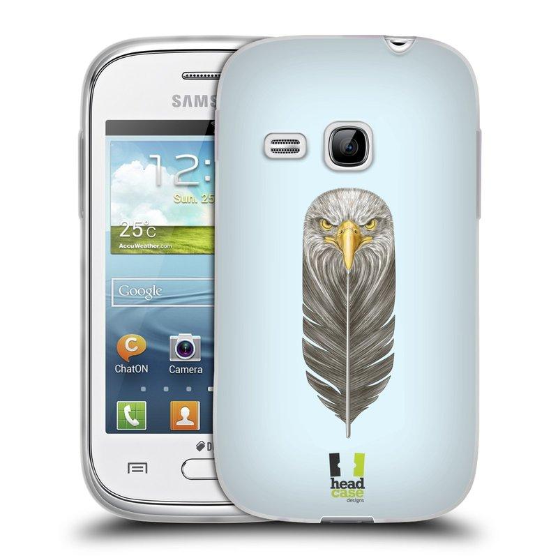 Silikonové pouzdro na mobil Samsung Galaxy Young HEAD CASE PÍRKO OREL (Silikonový kryt či obal na mobilní telefon Samsung Galaxy Young GT-S6310)