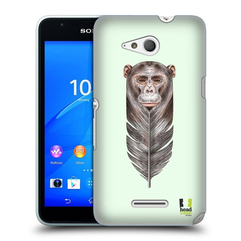 Plastové pouzdro na mobil Sony Xperia E4g E2003 HEAD CASE PÍRKO OPIČKA (Kryt či obal na mobilní telefon Sony Xperia E4g a E4g Dual SIM)