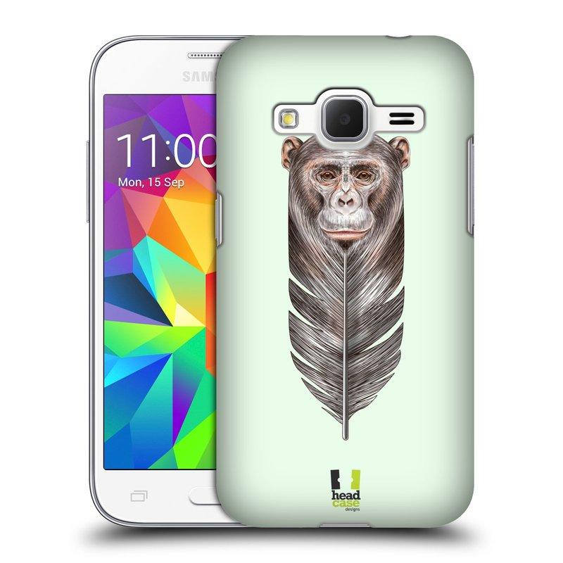 Plastové pouzdro na mobil Samsung Galaxy Core Prime LTE HEAD CASE PÍRKO OPIČKA (Kryt či obal na mobilní telefon Samsung Galaxy Core Prime LTE SM-G360)
