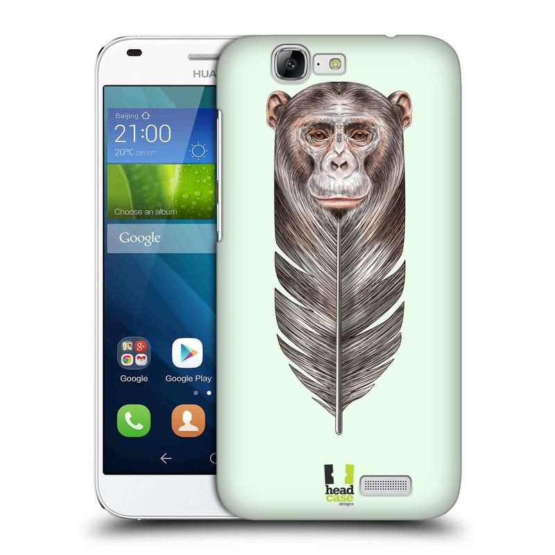 Plastové pouzdro na mobil Huawei Ascend G7 HEAD CASE PÍRKO OPIČKA (Kryt či obal na mobilní telefon Huawei Ascend G7)