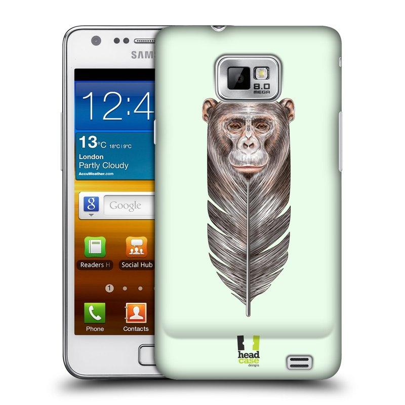 Plastové pouzdro na mobil Samsung Galaxy S II HEAD CASE PÍRKO OPIČKA (Kryt či obal na mobilní telefon Samsung Galaxy S II GT-i9100)