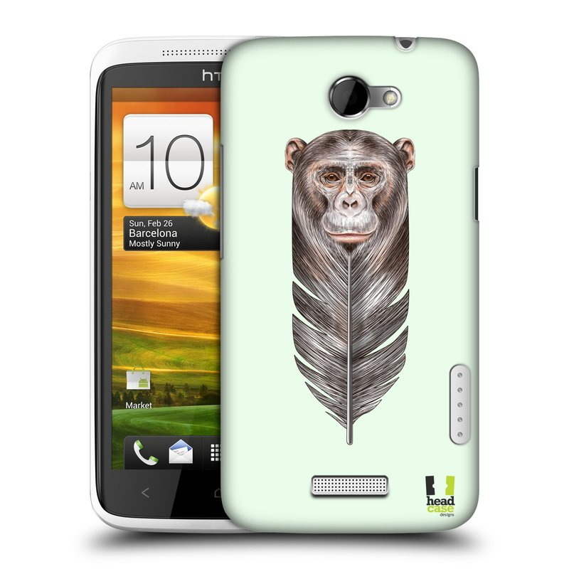 Plastové pouzdro na mobil HTC ONE X HEAD CASE PÍRKO OPIČKA (Kryt či obal na mobilní telefon HTC ONE X)