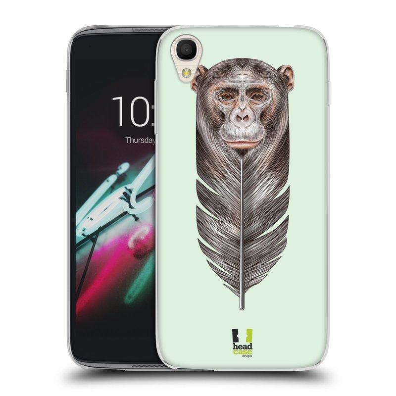"Silikonové pouzdro na mobil Alcatel One Touch 6039Y Idol 3 HEAD CASE PÍRKO OPIČKA (Silikonový kryt či obal na mobilní telefon Alcatel One Touch Idol 3 OT-6039Y s 4,7"" displejem)"