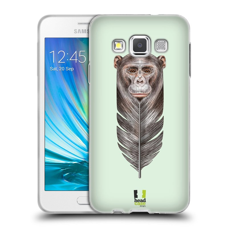Silikonové pouzdro na mobil Samsung Galaxy A3 HEAD CASE PÍRKO OPIČKA (Silikonový kryt či obal na mobilní telefon Samsung Galaxy A3 SM-A300)