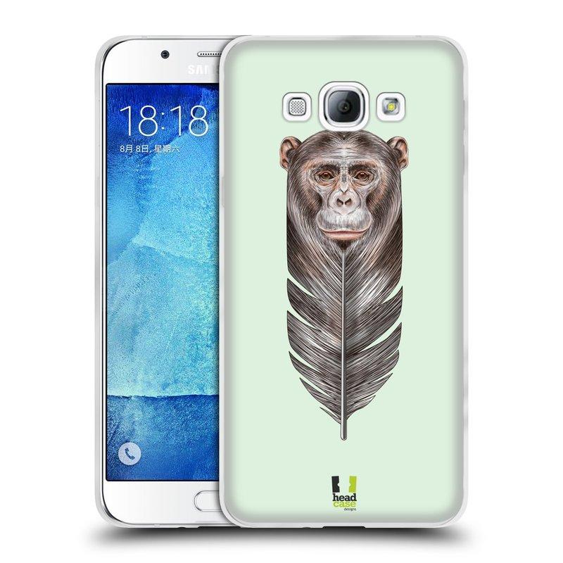Silikonové pouzdro na mobil Samsung Galaxy A8 HEAD CASE PÍRKO OPIČKA (Silikonový kryt či obal na mobilní telefon Samsung Galaxy A8 SM-A800)