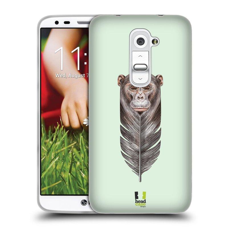 Silikonové pouzdro na mobil LG G2 HEAD CASE PÍRKO OPIČKA (Silikonový kryt či obal na mobilní telefon LG G2 D802)