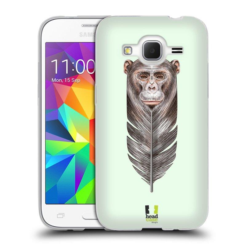 Silikonové pouzdro na mobil Samsung Galaxy Core Prime LTE HEAD CASE PÍRKO OPIČKA (Silikonový kryt či obal na mobilní telefon Samsung Galaxy Core Prime LTE SM-G360)