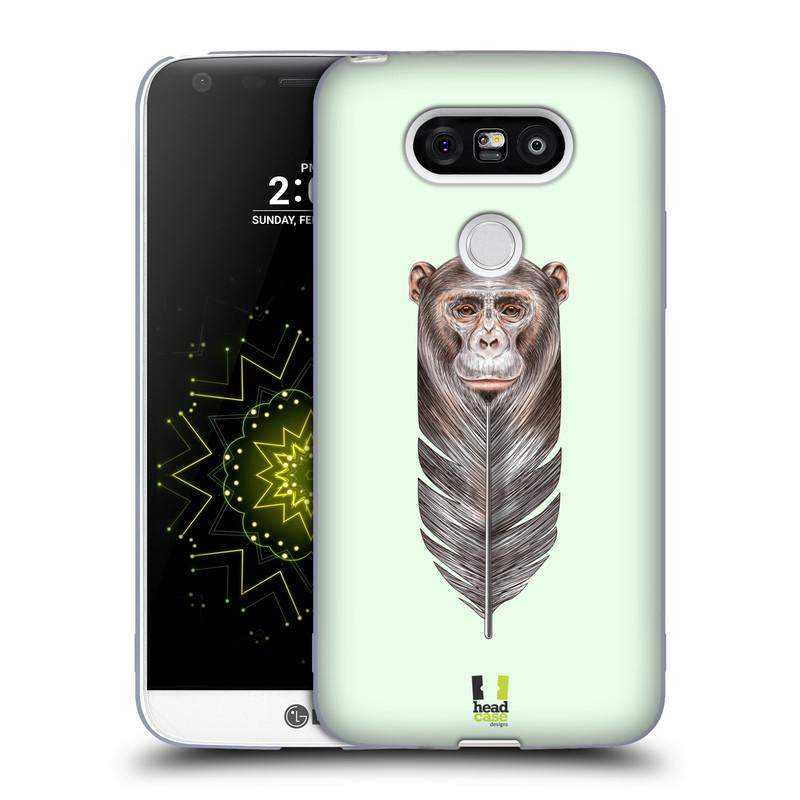 Silikonové pouzdro na mobil LG G5 HEAD CASE PÍRKO OPIČKA (Silikonový kryt či obal na mobilní telefon LG G5 H850)