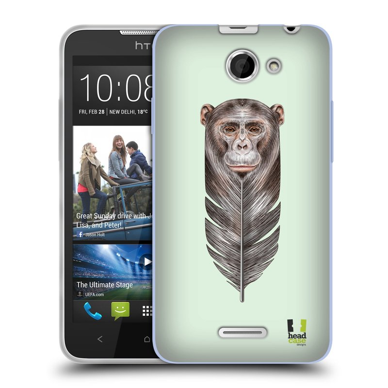 Silikonové pouzdro na mobil HTC Desire 516 HEAD CASE PÍRKO OPIČKA (Silikonový kryt či obal na mobilní telefon HTC Desire 516 Dual SIM)