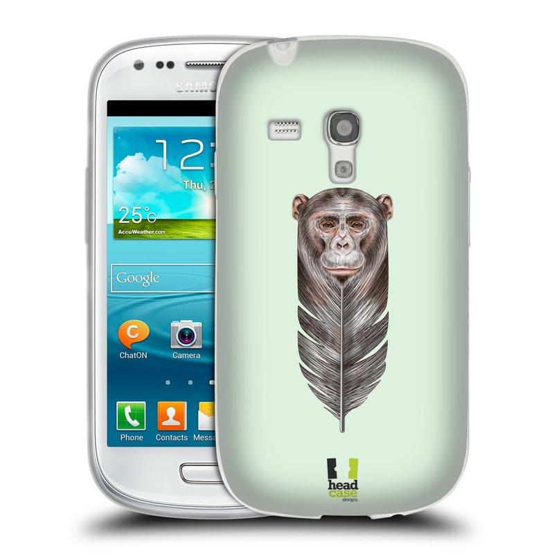 Silikonové pouzdro na mobil Samsung Galaxy S III Mini HEAD CASE PÍRKO OPIČKA (Silikonový kryt či obal na mobilní telefon Samsung Galaxy S III Mini GT-i8190)