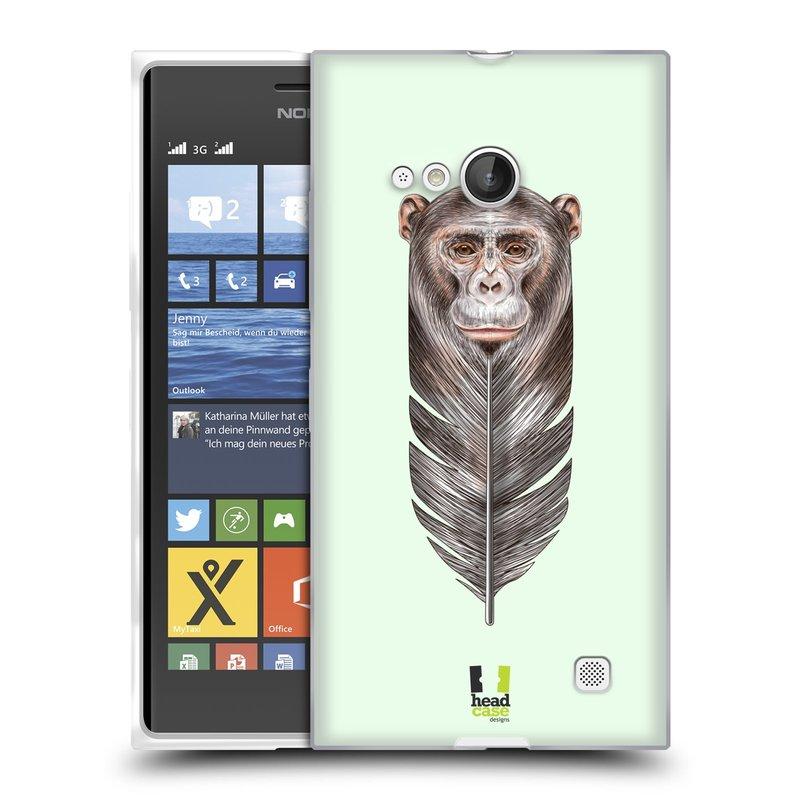 Silikonové pouzdro na mobil Nokia Lumia 730 Dual SIM HEAD CASE PÍRKO OPIČKA (Silikonový kryt či obal na mobilní telefon Nokia Lumia 730 Dual SIM)