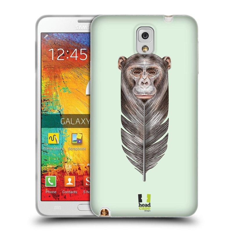 Silikonové pouzdro na mobil Samsung Galaxy Note 3 HEAD CASE PÍRKO OPIČKA (Silikonový kryt či obal na mobilní telefon Samsung Galaxy Note 3 SM-N9005)