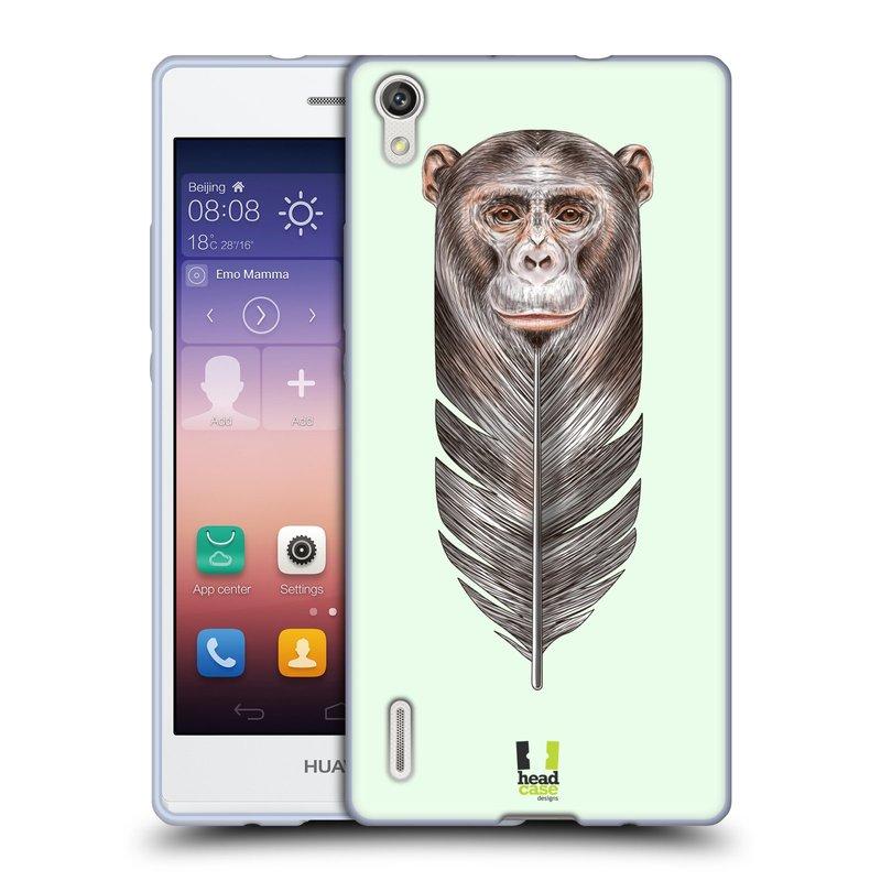 Silikonové pouzdro na mobil Huawei P7 HEAD CASE PÍRKO OPIČKA (Silikonový kryt či obal na mobilní telefon Huawei Ascend P7)