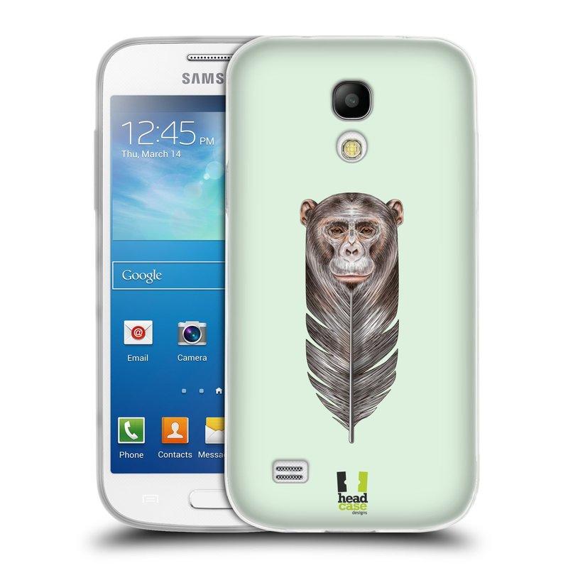 Silikonové pouzdro na mobil Samsung Galaxy S4 Mini HEAD CASE PÍRKO OPIČKA (Silikonový kryt či obal na mobilní telefon Samsung Galaxy S4 Mini GT-i9195 / i9190 (nepasuje na verzi Black Edition))