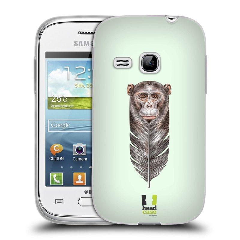Silikonové pouzdro na mobil Samsung Galaxy Young HEAD CASE PÍRKO OPIČKA (Silikonový kryt či obal na mobilní telefon Samsung Galaxy Young GT-S6310)