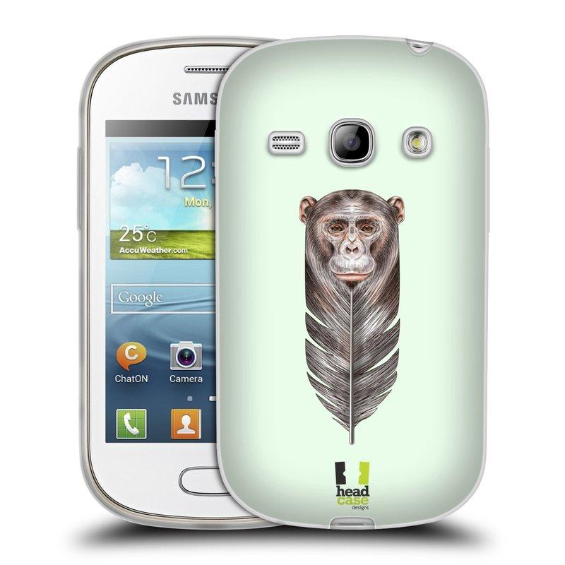 Silikonové pouzdro na mobil Samsung Galaxy Fame HEAD CASE PÍRKO OPIČKA (Silikonový kryt či obal na mobilní telefon Samsung Galaxy Fame GT-S6810)