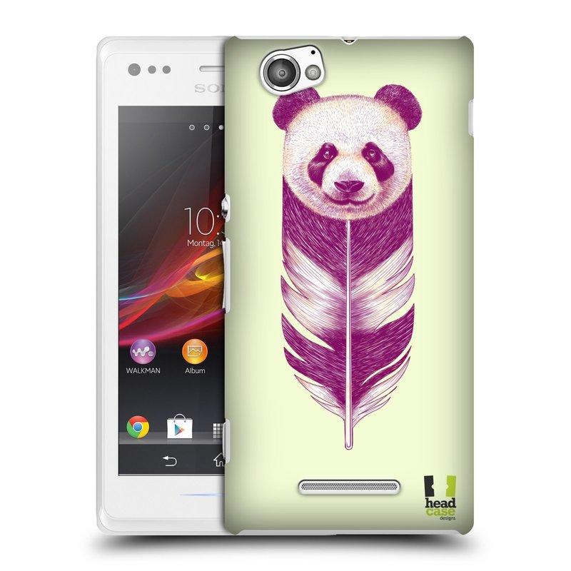 Plastové pouzdro na mobil Sony Xperia M C1905 HEAD CASE PÍRKO PANDA (Kryt či obal na mobilní telefon Sony Xperia M a M Dual)