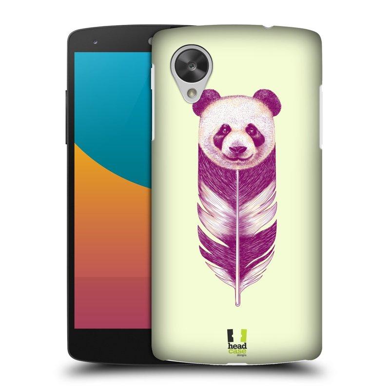 Plastové pouzdro na mobil LG Nexus 5 HEAD CASE PÍRKO PANDA (Kryt či obal na mobilní telefon LG Google Nexus 5 D821)