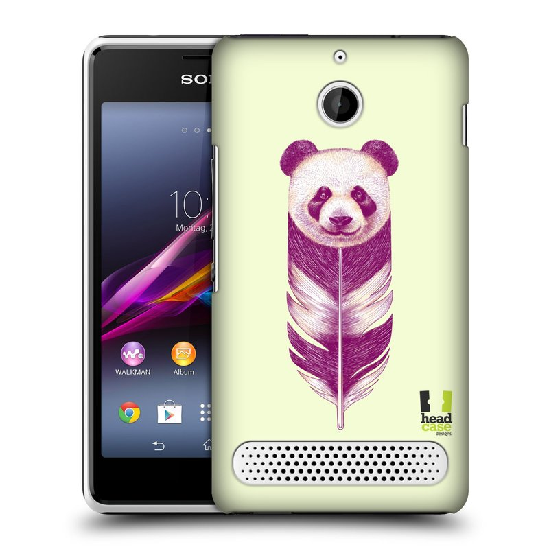 Plastové pouzdro na mobil Sony Xperia E1 D2005 HEAD CASE PÍRKO PANDA (Kryt či obal na mobilní telefon Sony Xperia E1 a E1 Dual )