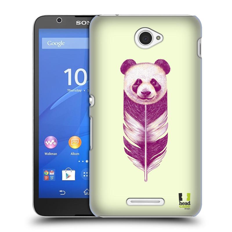 Plastové pouzdro na mobil Sony Xperia E4 E2105 HEAD CASE PÍRKO PANDA (Kryt či obal na mobilní telefon Sony Xperia E4 a E4 Dual SIM)