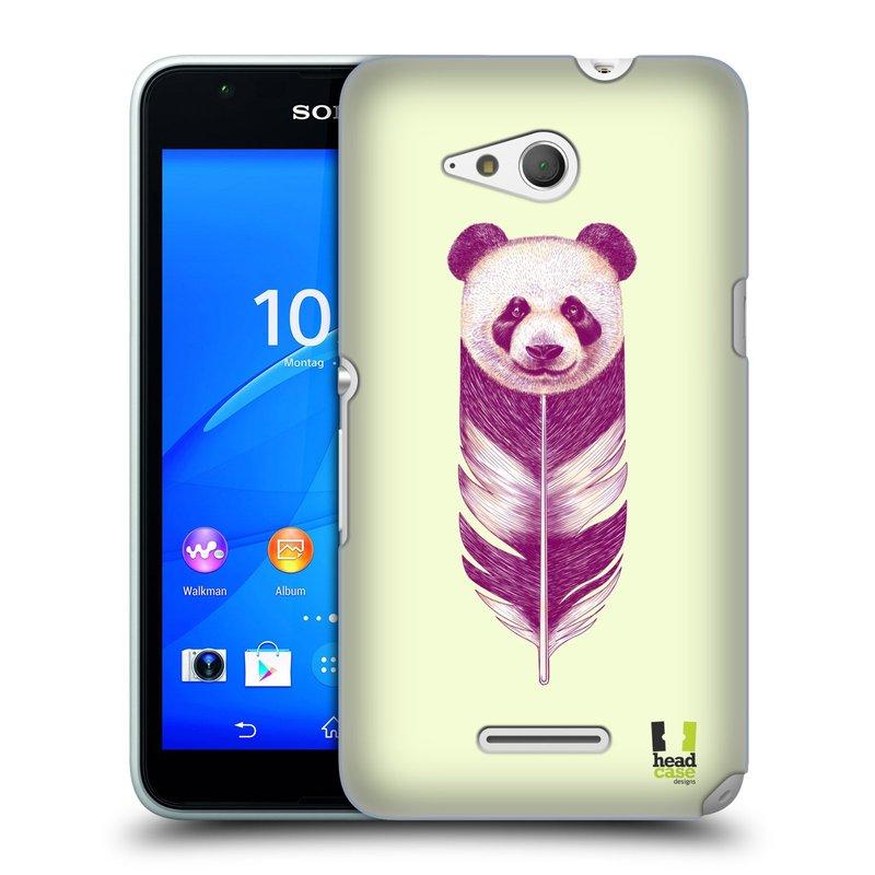 Plastové pouzdro na mobil Sony Xperia E4g E2003 HEAD CASE PÍRKO PANDA (Kryt či obal na mobilní telefon Sony Xperia E4g a E4g Dual SIM)