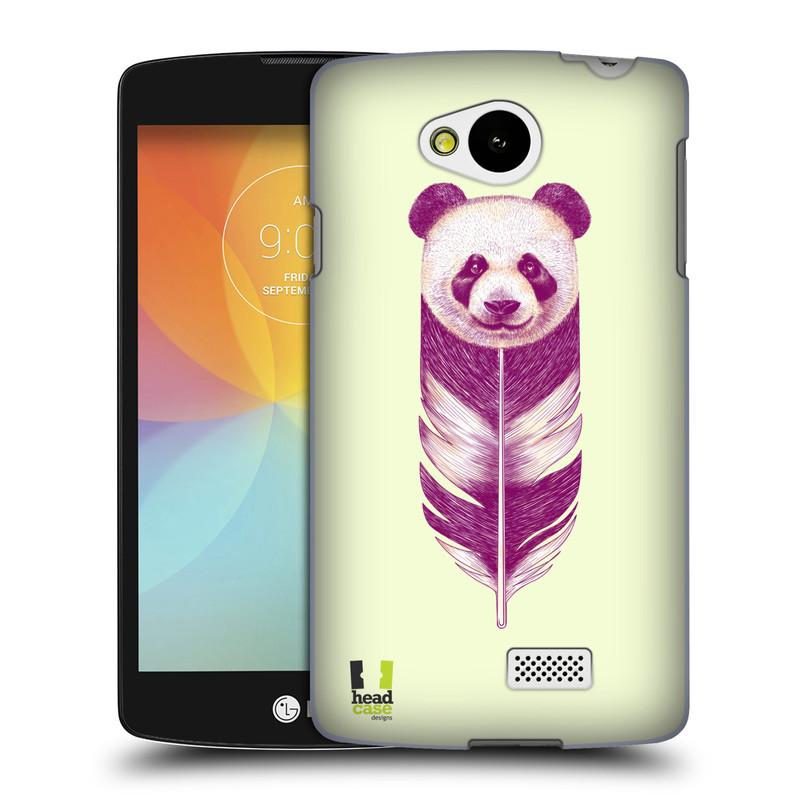 Plastové pouzdro na mobil LG F60 HEAD CASE PÍRKO PANDA (Kryt či obal na mobilní telefon LG F60 D390n)