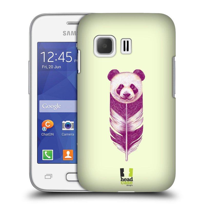 Plastové pouzdro na mobil Samsung Galaxy Young 2 HEAD CASE PÍRKO PANDA (Kryt či obal na mobilní telefon Samsung Galaxy Young 2 SM-G130)