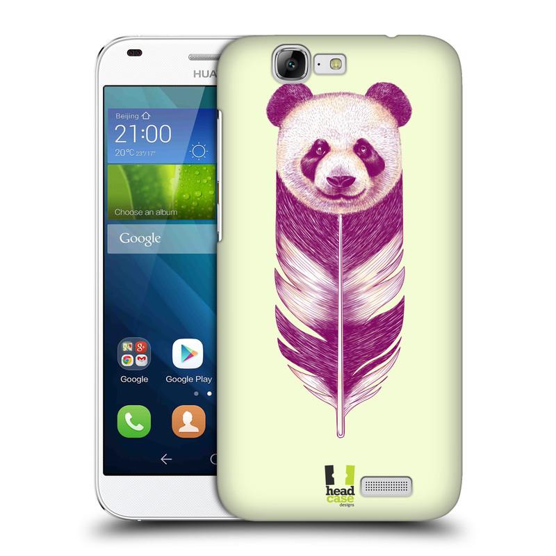 Plastové pouzdro na mobil Huawei Ascend G7 HEAD CASE PÍRKO PANDA (Kryt či obal na mobilní telefon Huawei Ascend G7)