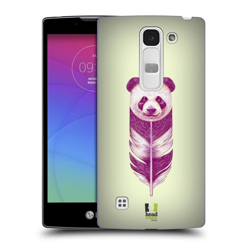 Plastové pouzdro na mobil LG Spirit LTE HEAD CASE PÍRKO PANDA (Kryt či obal na mobilní telefon LG Spirit H420 a LG Spirit LTE H440N)