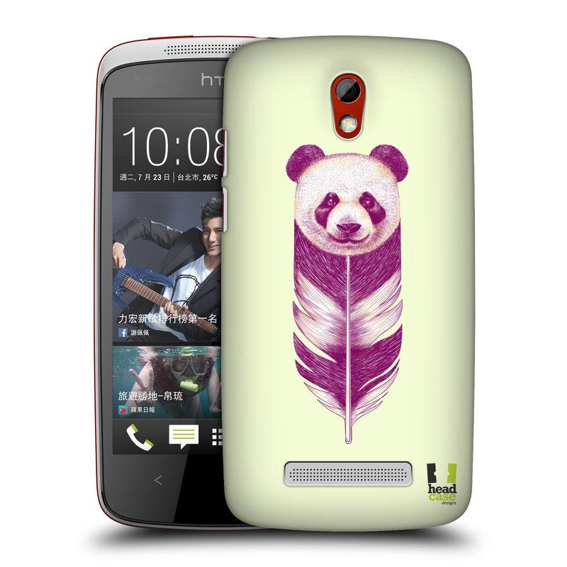 Plastové pouzdro na mobil HTC Desire 500 HEAD CASE PÍRKO PANDA (Kryt či obal na mobilní telefon HTC Desire 500)
