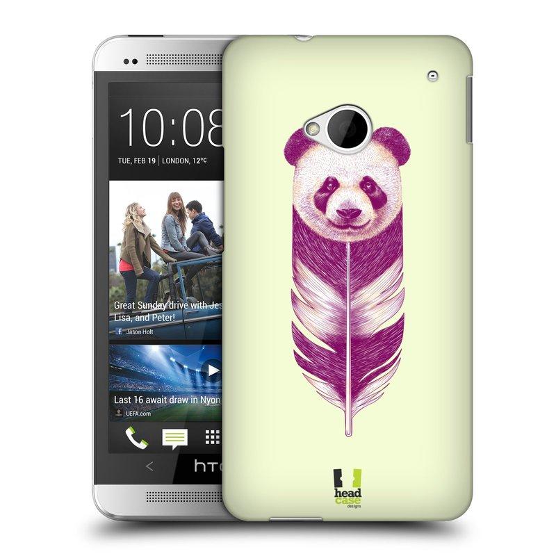Plastové pouzdro na mobil HTC ONE M7 HEAD CASE PÍRKO PANDA (Kryt či obal na mobilní telefon HTC ONE M7)