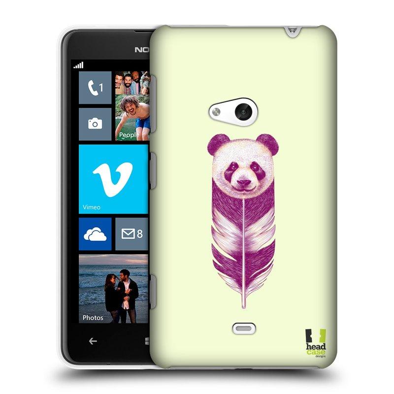 Plastové pouzdro na mobil Nokia Lumia 625 HEAD CASE PÍRKO PANDA (Kryt či obal na mobilní telefon Nokia Lumia 625)