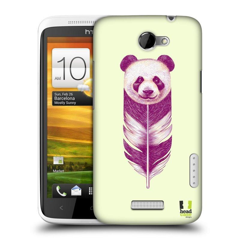 Plastové pouzdro na mobil HTC ONE X HEAD CASE PÍRKO PANDA (Kryt či obal na mobilní telefon HTC ONE X)