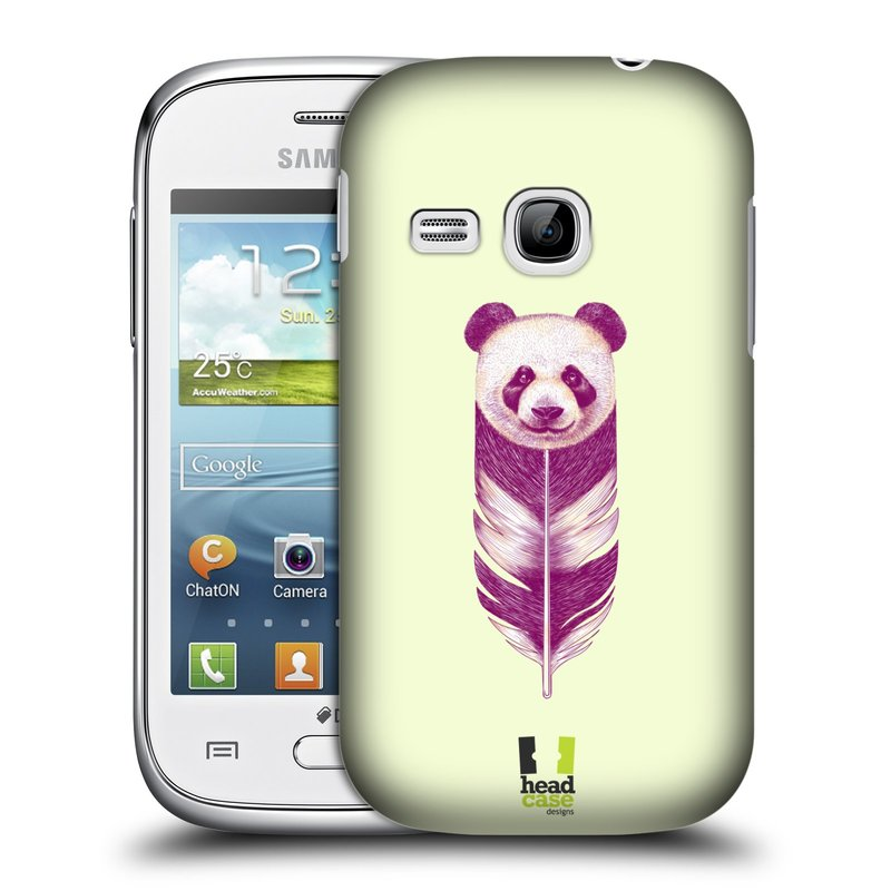 Plastové pouzdro na mobil Samsung Galaxy Young HEAD CASE PÍRKO PANDA (Kryt či obal na mobilní telefon Samsung Galaxy Young GT-S6310)