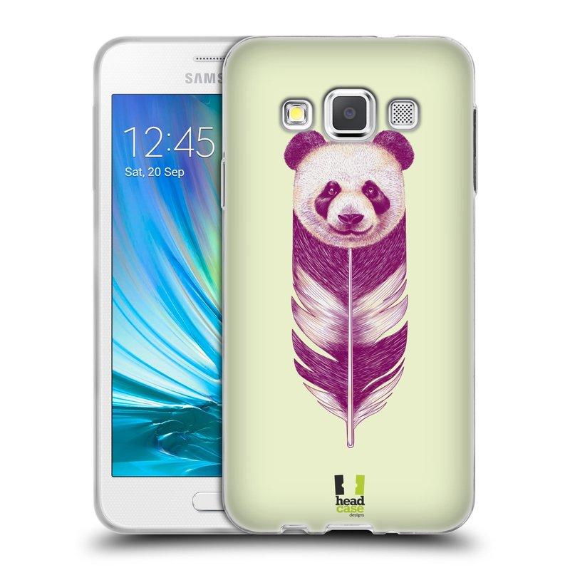 Silikonové pouzdro na mobil Samsung Galaxy A3 HEAD CASE PÍRKO PANDA (Silikonový kryt či obal na mobilní telefon Samsung Galaxy A3 SM-A300)