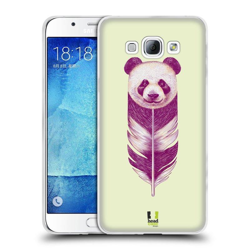 Silikonové pouzdro na mobil Samsung Galaxy A8 HEAD CASE PÍRKO PANDA (Silikonový kryt či obal na mobilní telefon Samsung Galaxy A8 SM-A800)