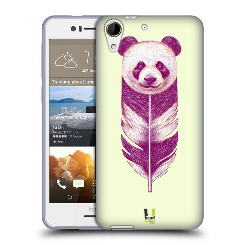 Silikonové pouzdro na mobil HTC Desire 728G Dual SIM HEAD CASE PÍRKO PANDA (Silikonový kryt či obal na mobilní telefon HTC Desire 728 G Dual SIM)