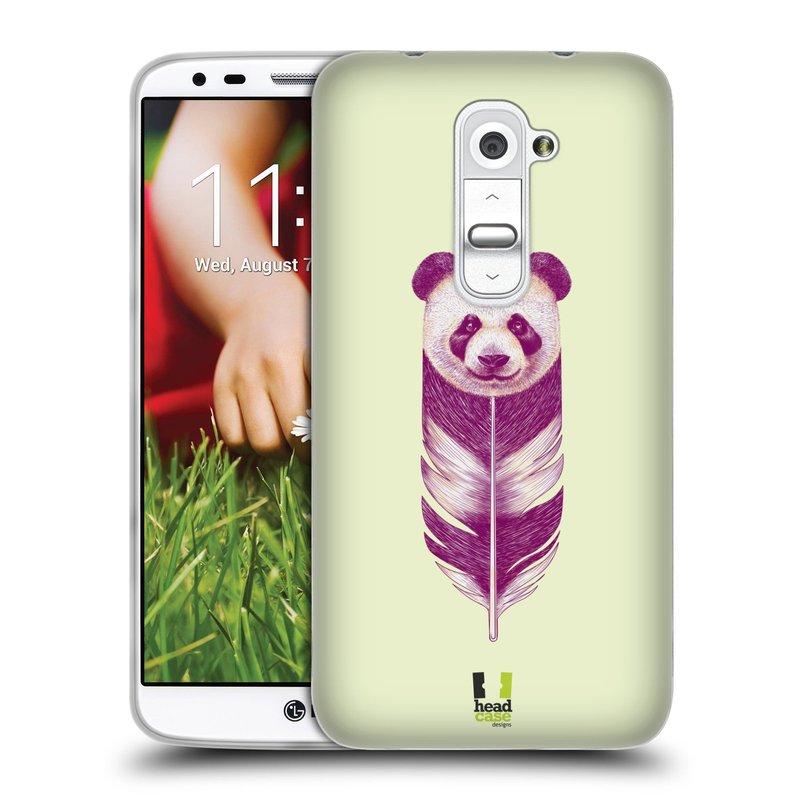 Silikonové pouzdro na mobil LG G2 HEAD CASE PÍRKO PANDA (Silikonový kryt či obal na mobilní telefon LG G2 D802)