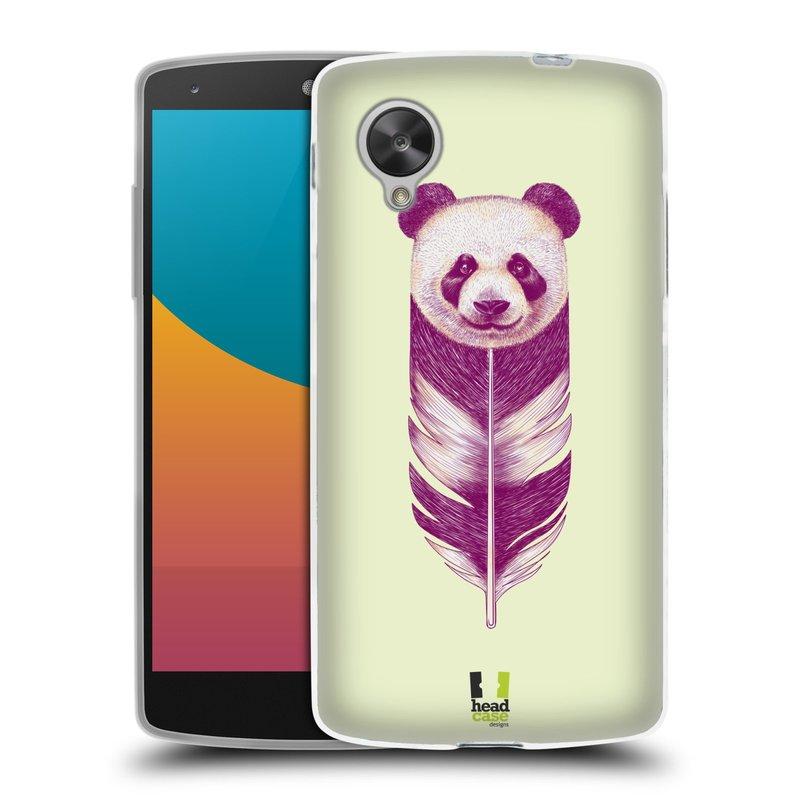 Silikonové pouzdro na mobil LG Nexus 5 HEAD CASE PÍRKO PANDA (Silikonový kryt či obal na mobilní telefon LG Google Nexus 5 D821)