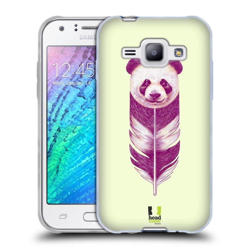 Silikonové pouzdro na mobil Samsung Galaxy J1 HEAD CASE PÍRKO PANDA (Silikonový kryt či obal na mobilní telefon Samsung Galaxy J1 a J1 Duos)