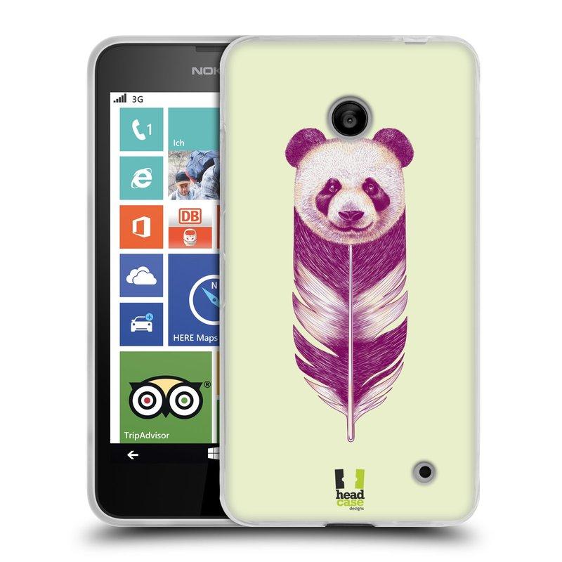 Silikonové pouzdro na mobil Nokia Lumia 630 HEAD CASE PÍRKO PANDA (Silikonový kryt či obal na mobilní telefon Nokia Lumia 630 a Nokia Lumia 630 Dual SIM)