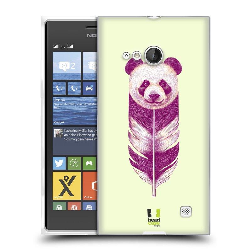 Silikonové pouzdro na mobil Nokia Lumia 730 Dual SIM HEAD CASE PÍRKO PANDA (Silikonový kryt či obal na mobilní telefon Nokia Lumia 730 Dual SIM)