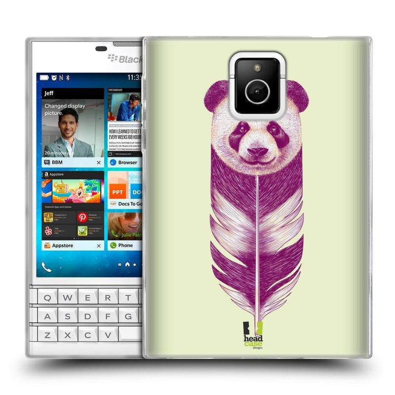 Silikonové pouzdro na mobil Blackberry PASSPORT HEAD CASE PÍRKO PANDA (Silikonový kryt či obal na mobilní telefon Blackberry PASSPORT)