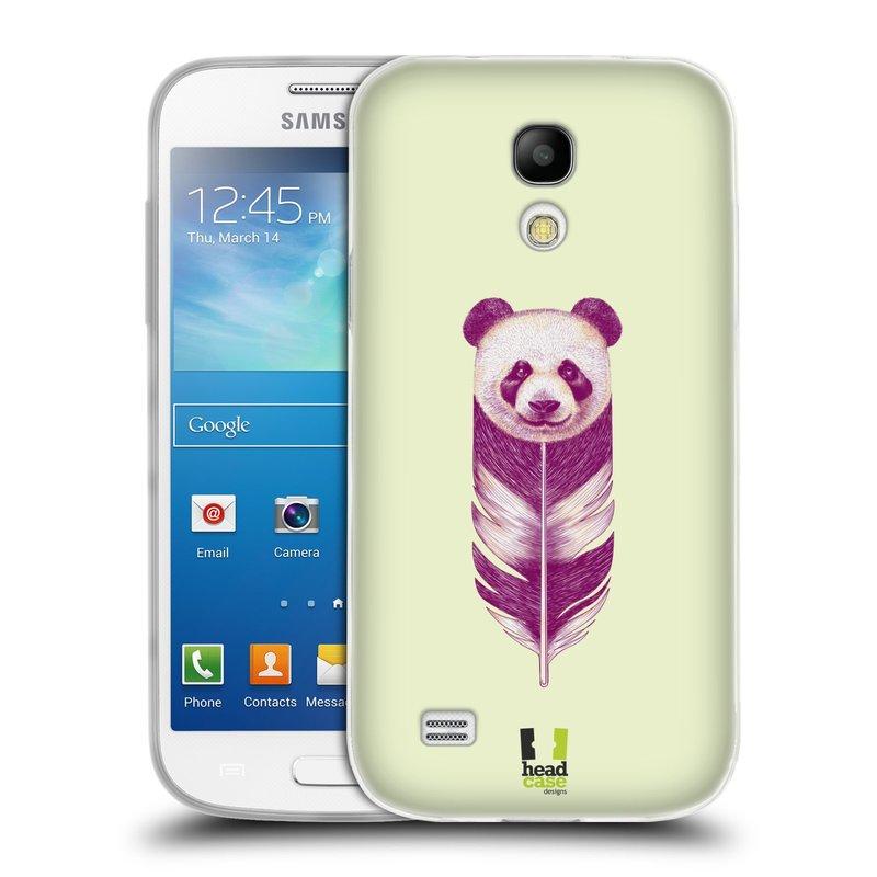 Silikonové pouzdro na mobil Samsung Galaxy S4 Mini HEAD CASE PÍRKO PANDA (Silikonový kryt či obal na mobilní telefon Samsung Galaxy S4 Mini GT-i9195 / i9190 (nepasuje na verzi Black Edition))