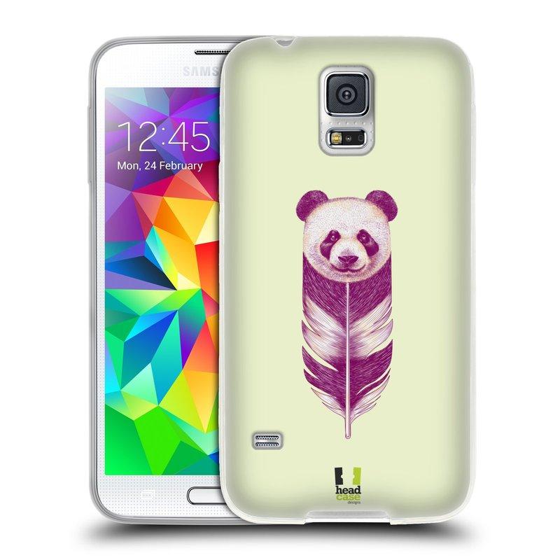 Silikonové pouzdro na mobil Samsung Galaxy S5 HEAD CASE PÍRKO PANDA (Silikonový kryt či obal na mobilní telefon Samsung Galaxy S5 SM-G900F)