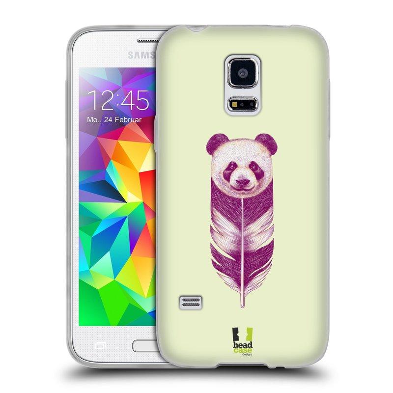 Silikonové pouzdro na mobil Samsung Galaxy S5 Mini HEAD CASE PÍRKO PANDA (Silikonový kryt či obal na mobilní telefon Samsung Galaxy S5 Mini SM-G800F)