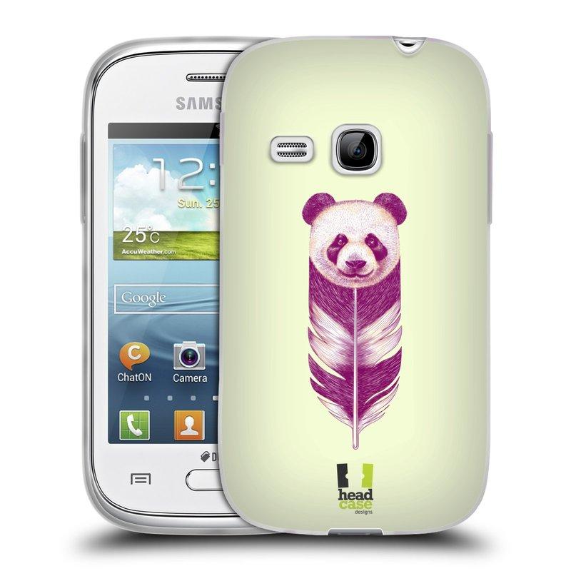 Silikonové pouzdro na mobil Samsung Galaxy Young HEAD CASE PÍRKO PANDA (Silikonový kryt či obal na mobilní telefon Samsung Galaxy Young GT-S6310)